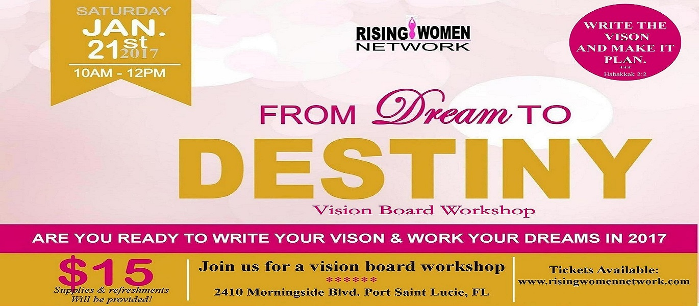 From Dream to Destiny Vision Board Workshop