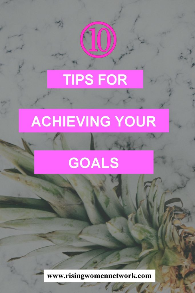 It's easy to come up with a goal and to say you're going to accomplish XYZ. The hard part comes in actually achieving your goals.