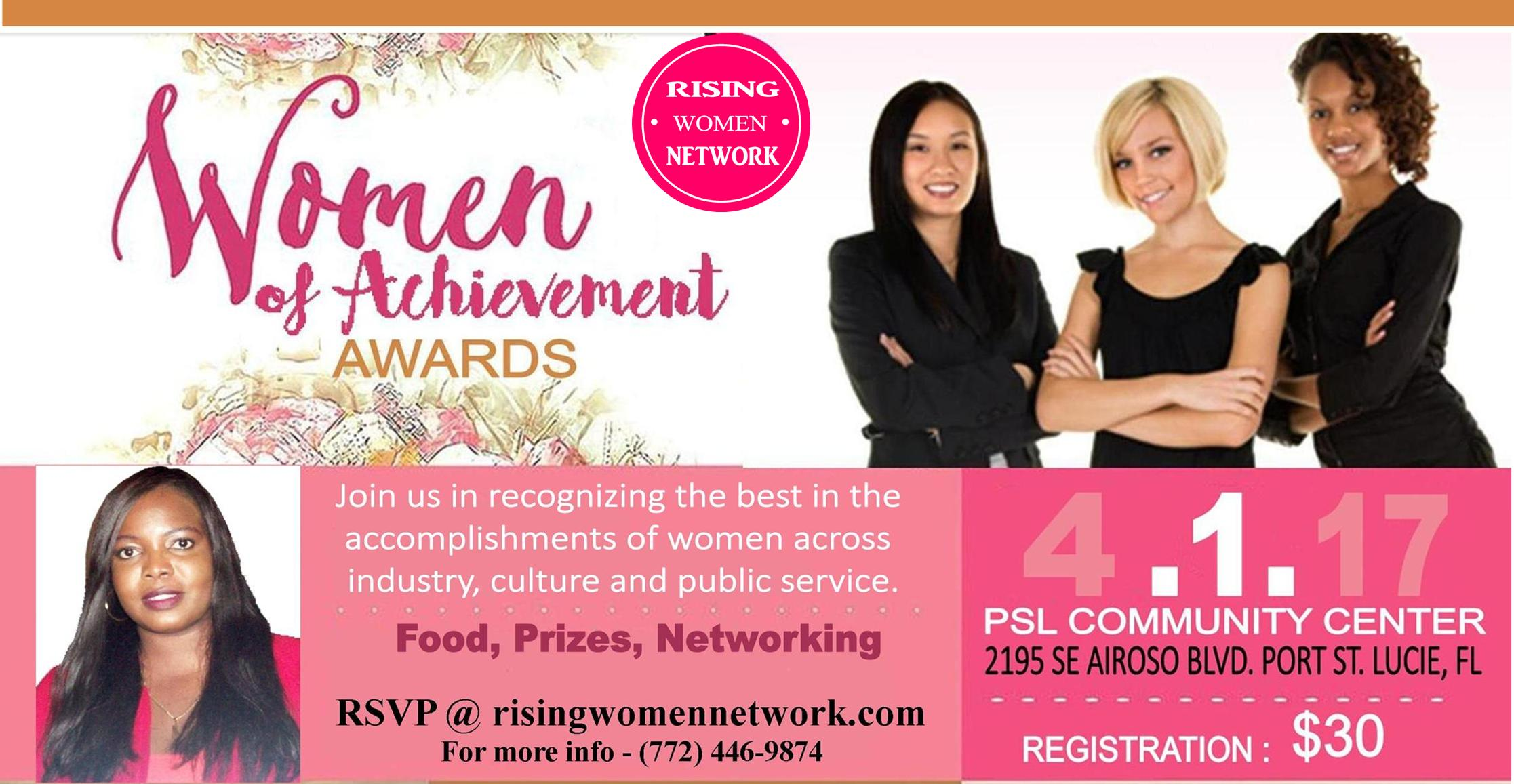 The Women of Achievement Awards is an annual luncheon that honors three women who have demonstrated qualities of leadership and excellence.