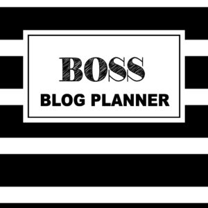 Are you a blogger, entrepreneur who creates? The Boss Blog Planner helps bloggers set specific goals and create an actionable plan to run a successful blog!