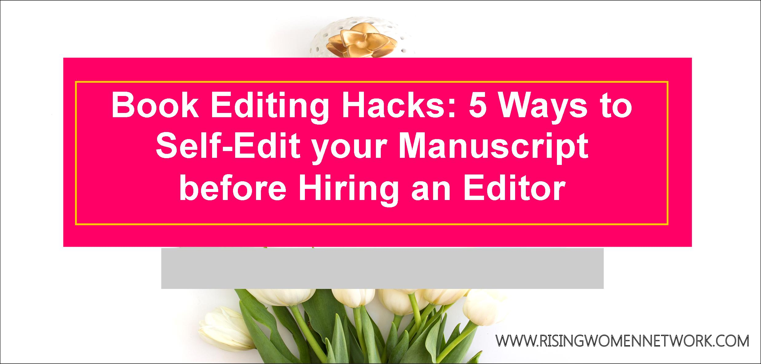 Easy book editing. Numerous free resources can help you improve your manuscript, and get rid of those pesky errors before you hand it over to a professional