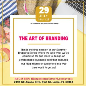 This is the final session we learn to design an unforgettable business card that captures our ideal clients or customers in a way they won't forget us!