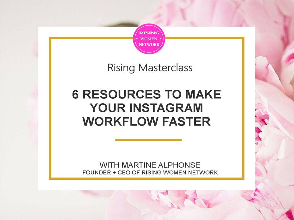 6 Resources to Make Your Instagram Workflow Faster