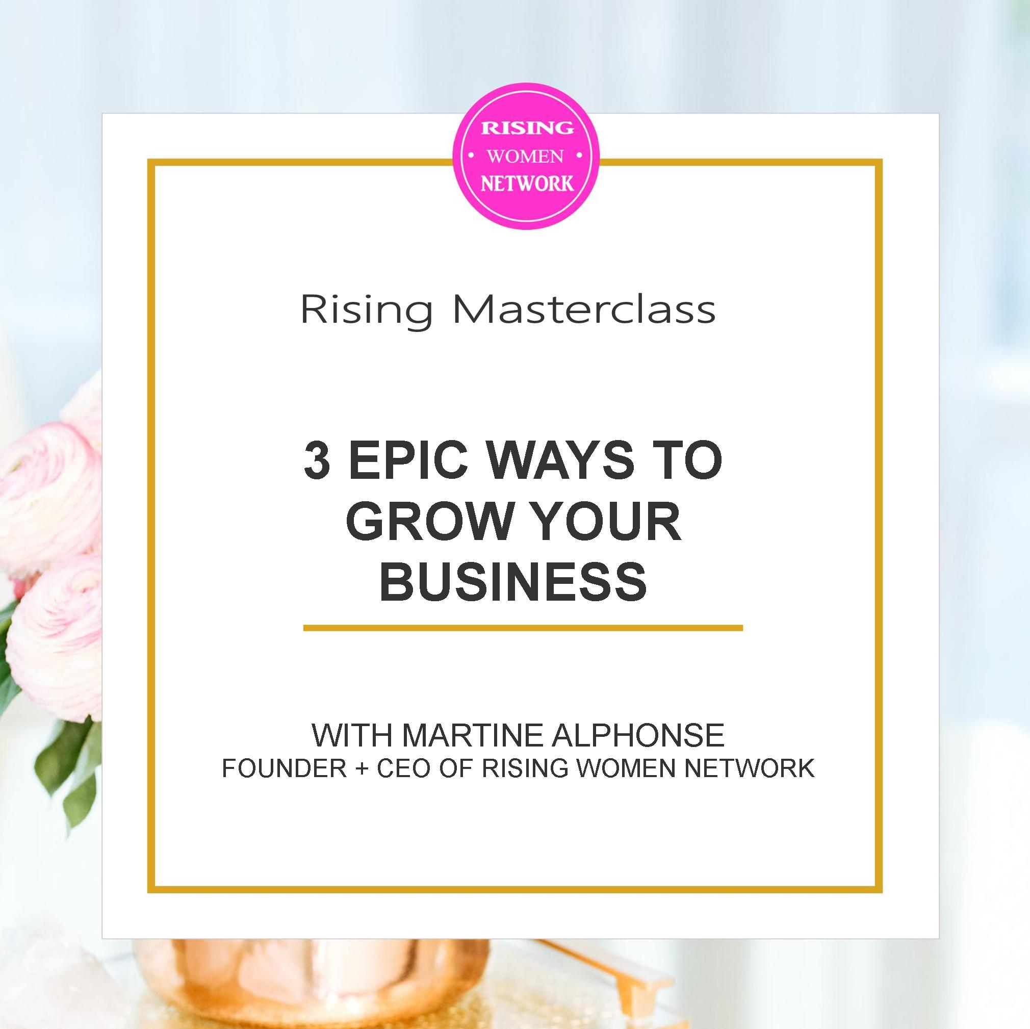 For growing my business, these areliterallythe 3 things that I myself have focused on that have allowed me to build a thriving online business.