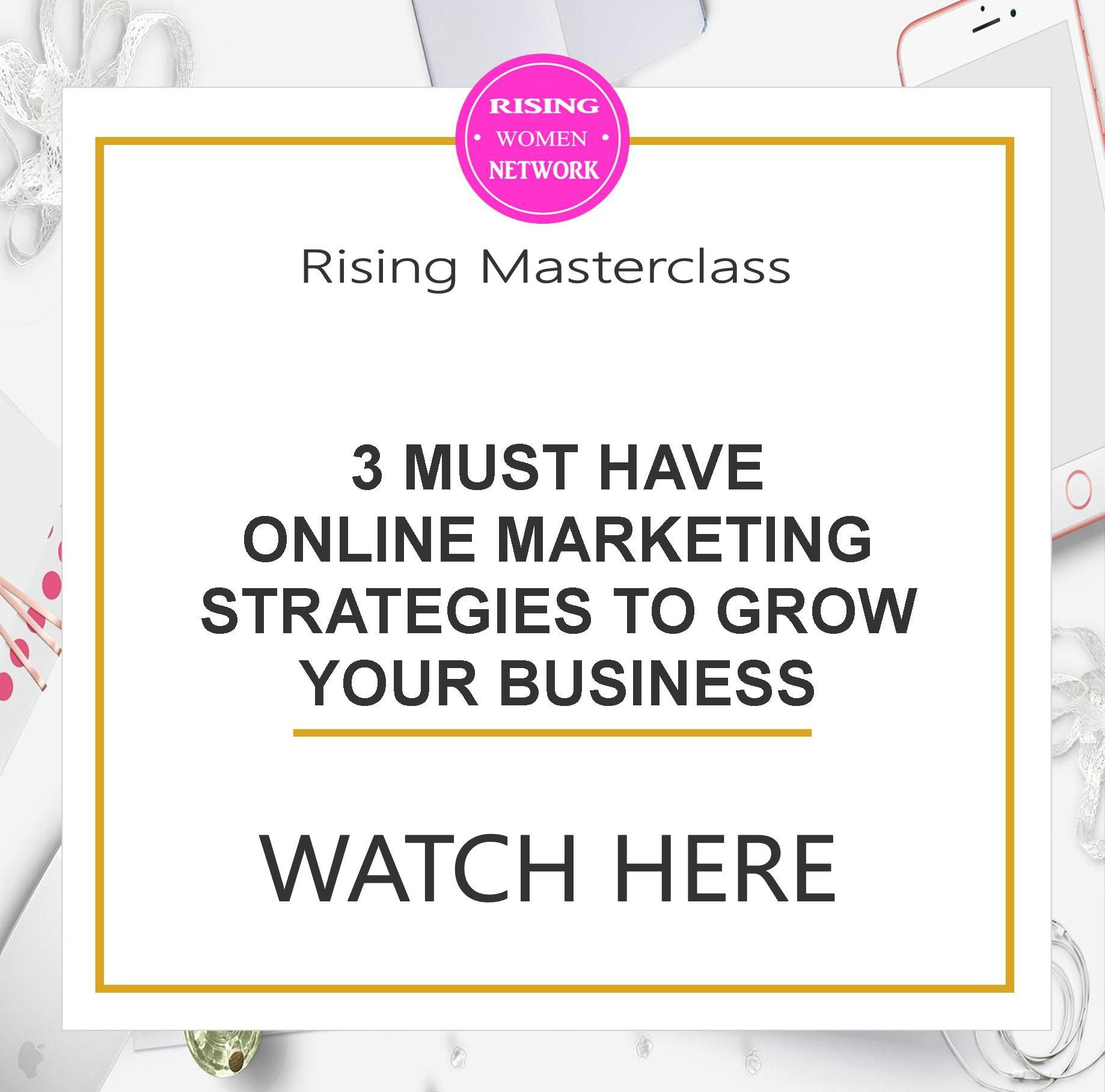 Spend some time testing this for your business, it may be your roadmap to success too. In this episode I'll give 3 Must have online marketing strategies.