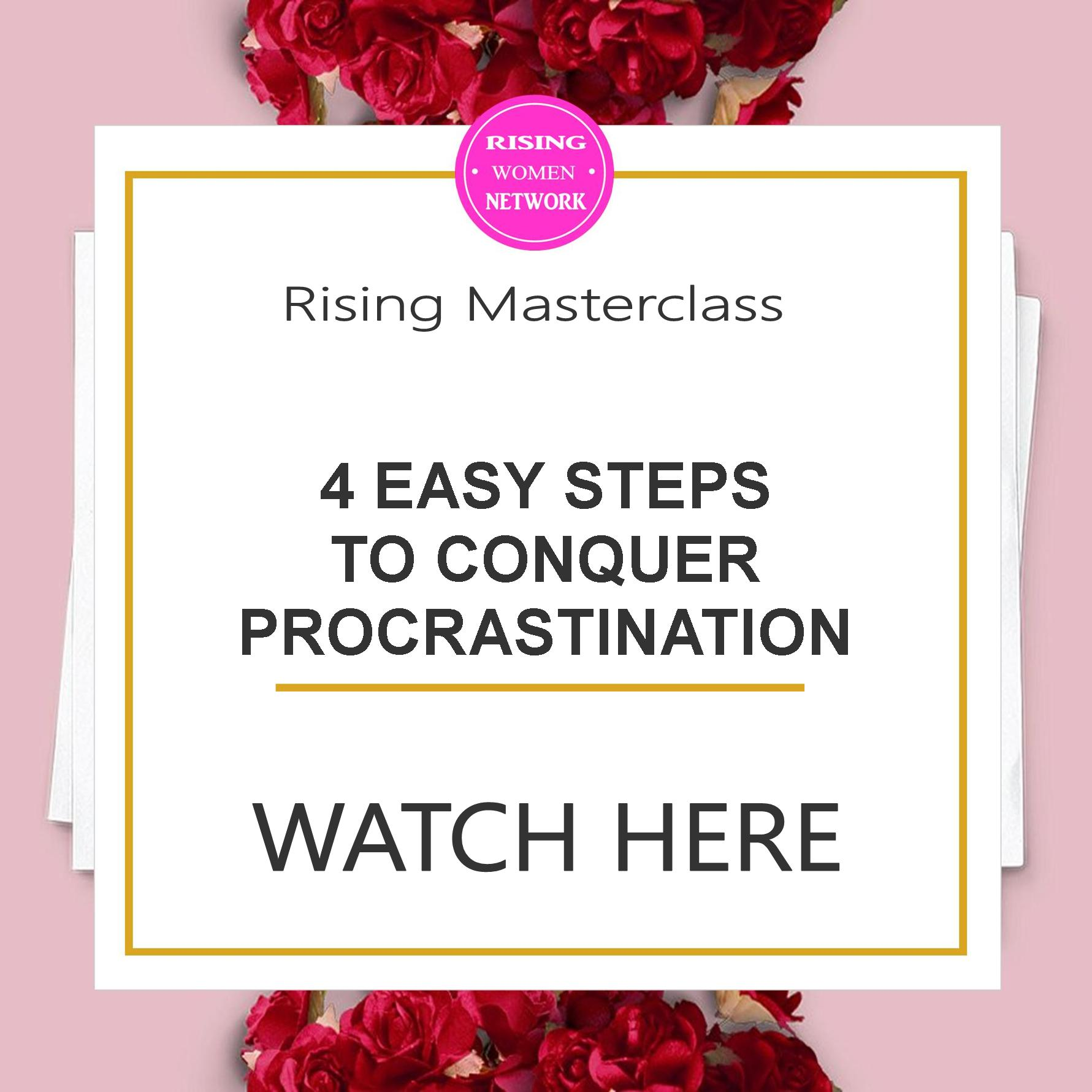 4 Easy Steps To Conquer Procrastination