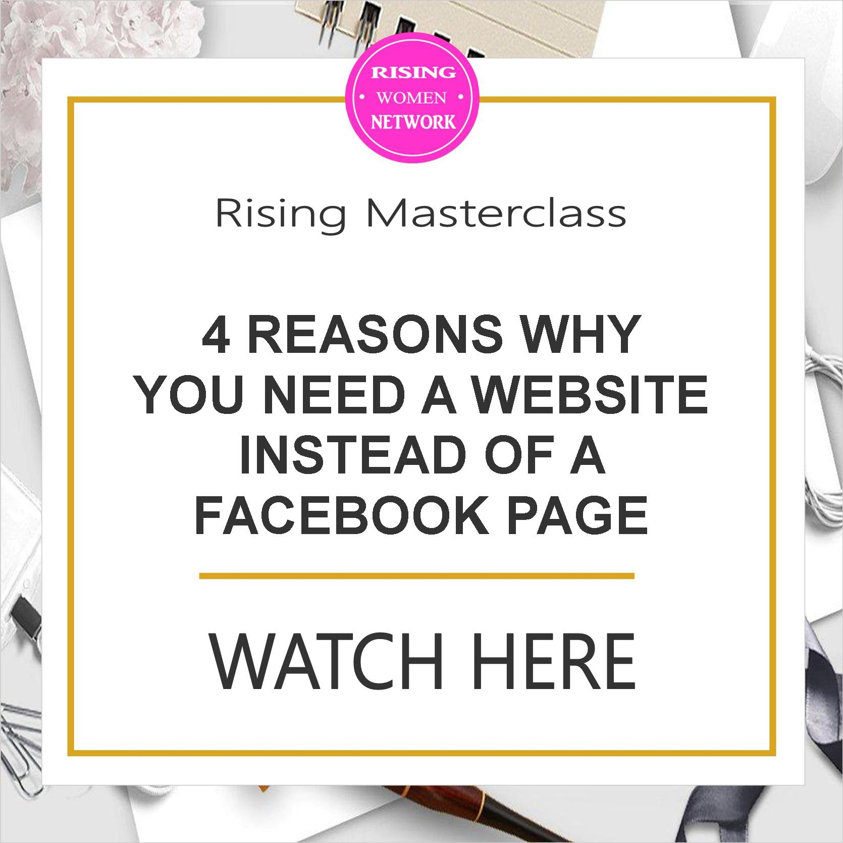 In this episode I'll give 4 important reasons why you need a website instead of simple a Facebook page for your business.