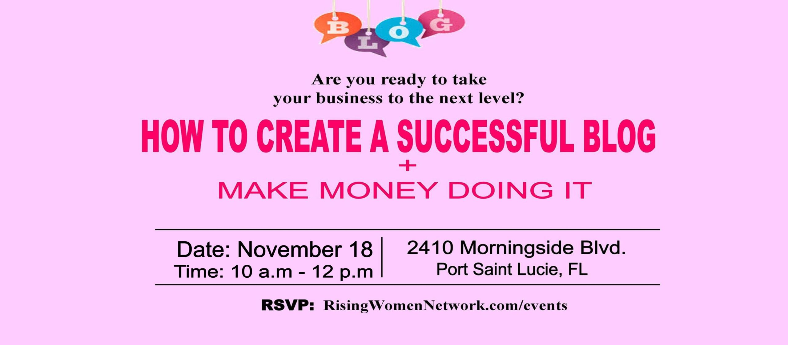 This workshop is a wildly fun, fiercely smart, two-hour workshop tailored to women who want to elevate their online presence and create a successful blog.