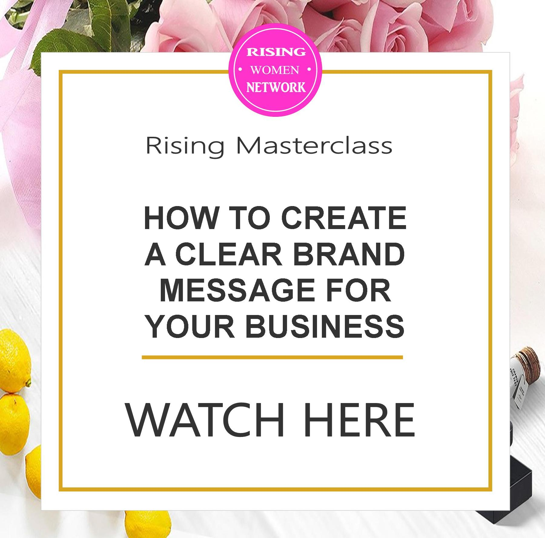 How to create a clear brand message for your business