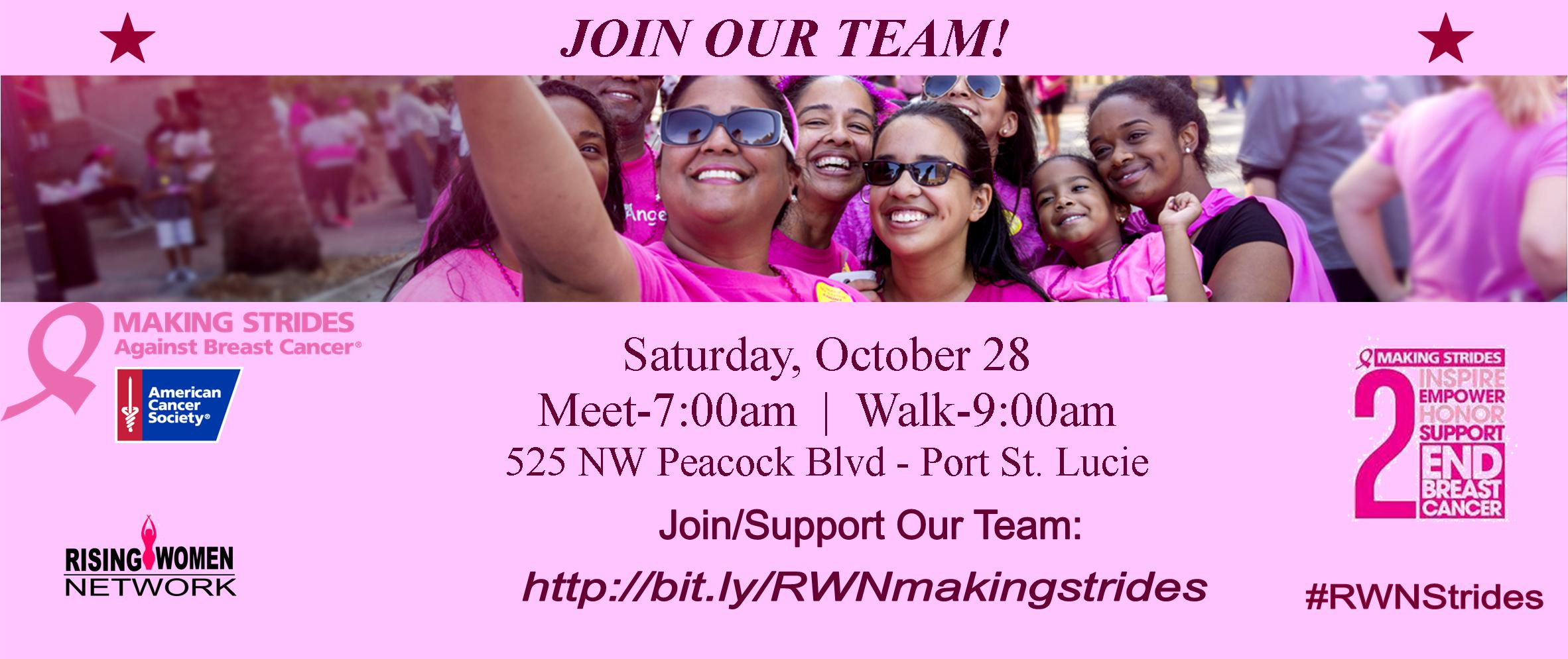 Making Strides Against Breast Cancer walks unite communities behind the American Cancer Society's efforts to save lives from breast cancer.