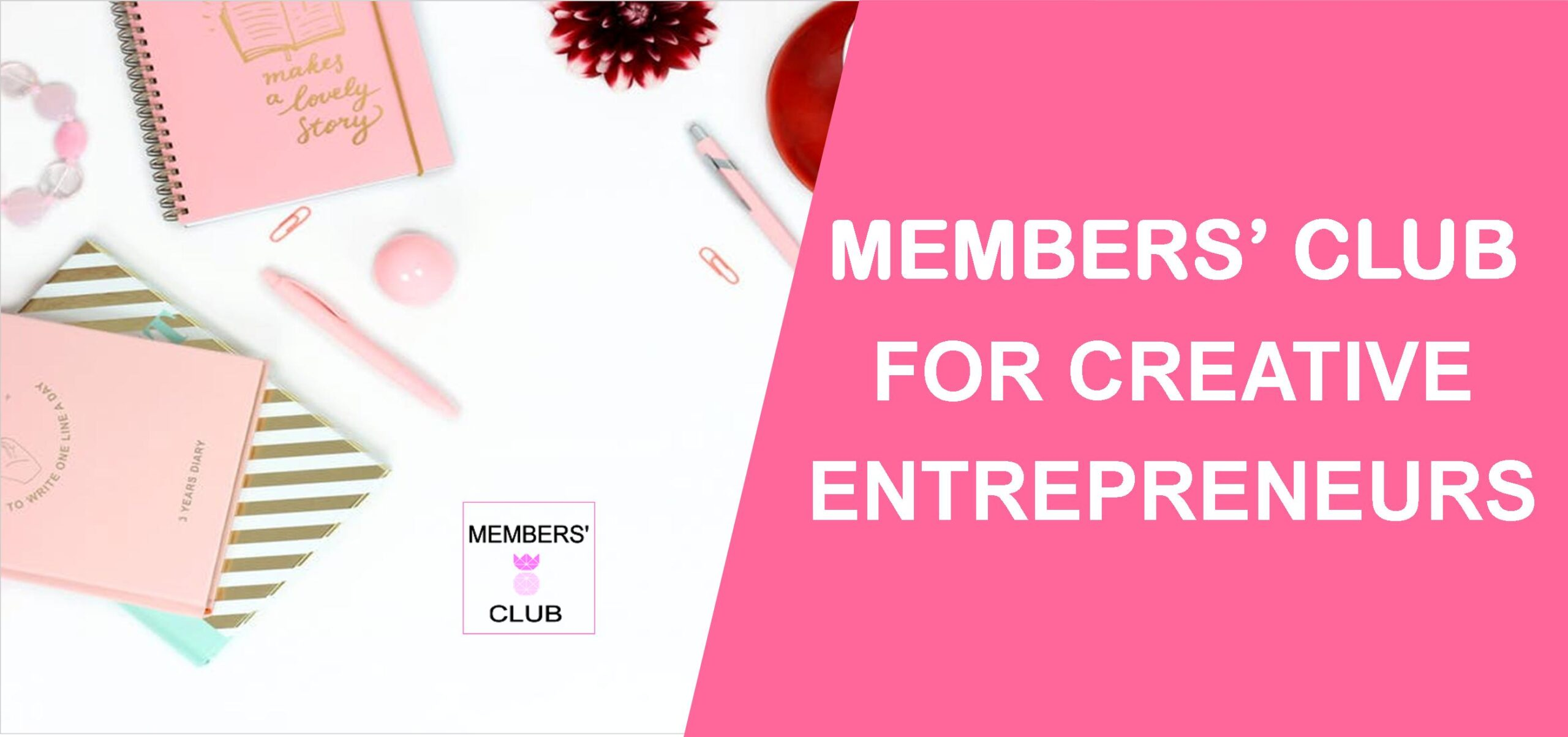 Members' Club is my privately-hosted membership that's filled to the brim with tools, and resources, to help creative entrepreneurs to the next level.