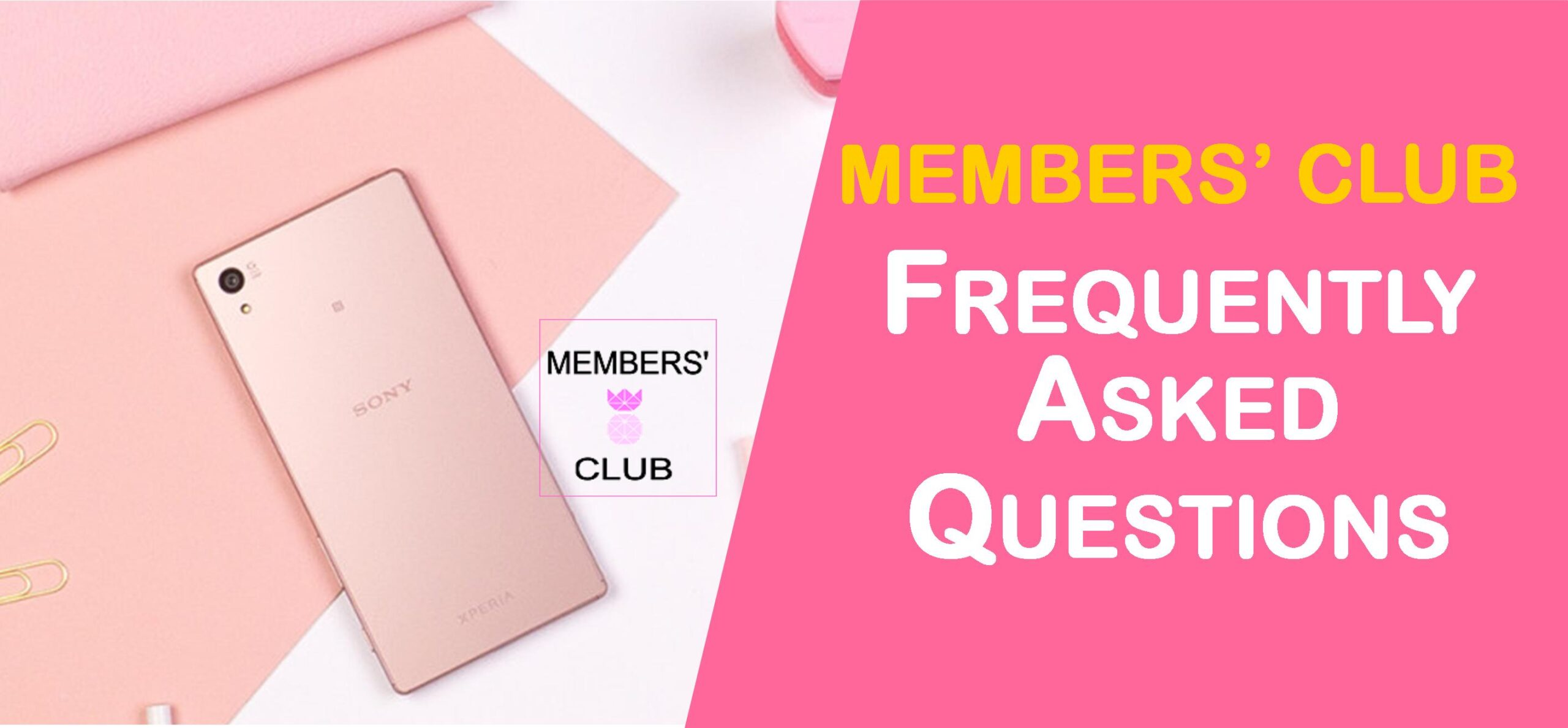 Join the Members' Club now! Today I'm going to share with you some Members' Club FAQ I'm receiving about the Members' Club.