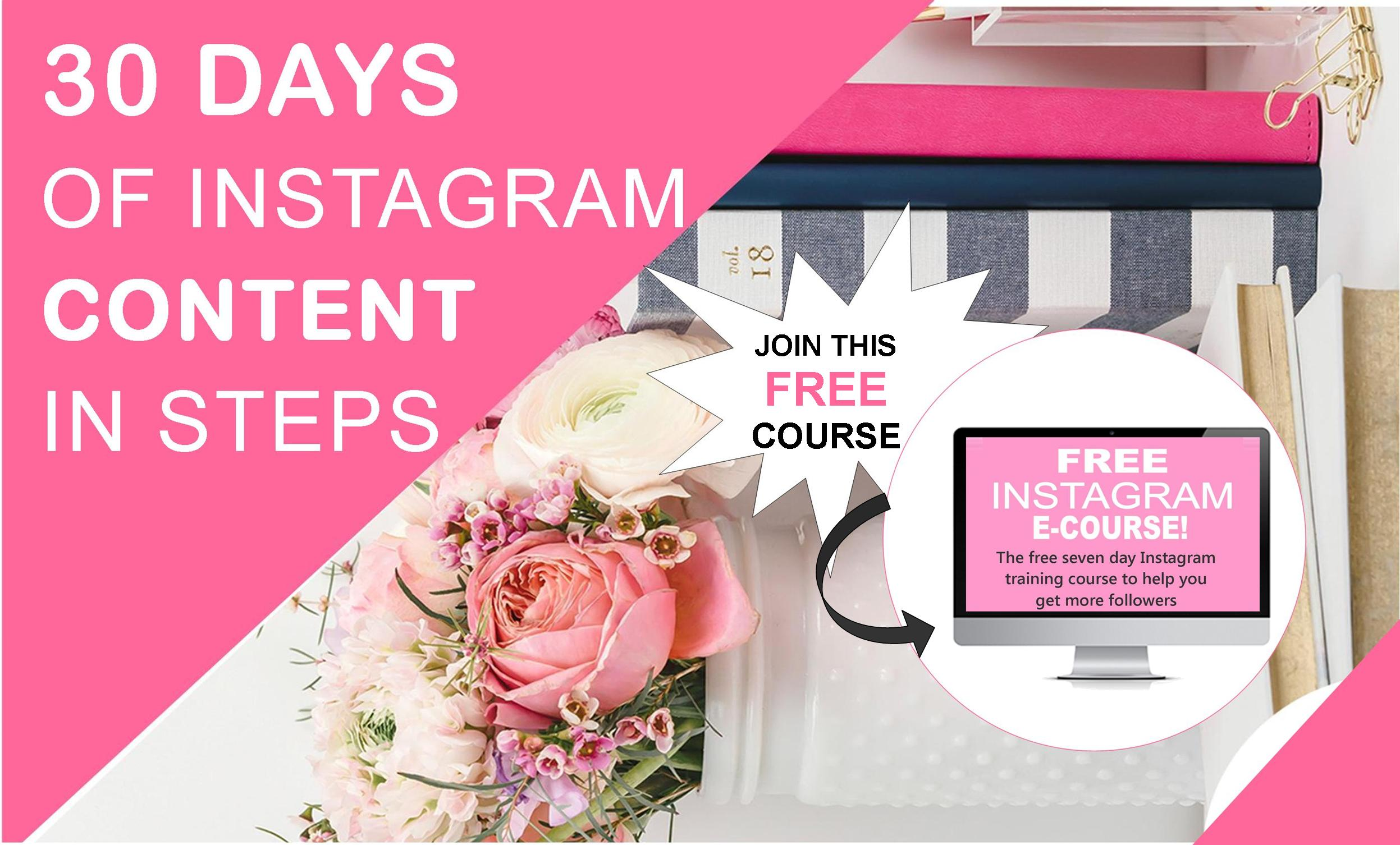 30 Days of Instagram Content in 7 Steps