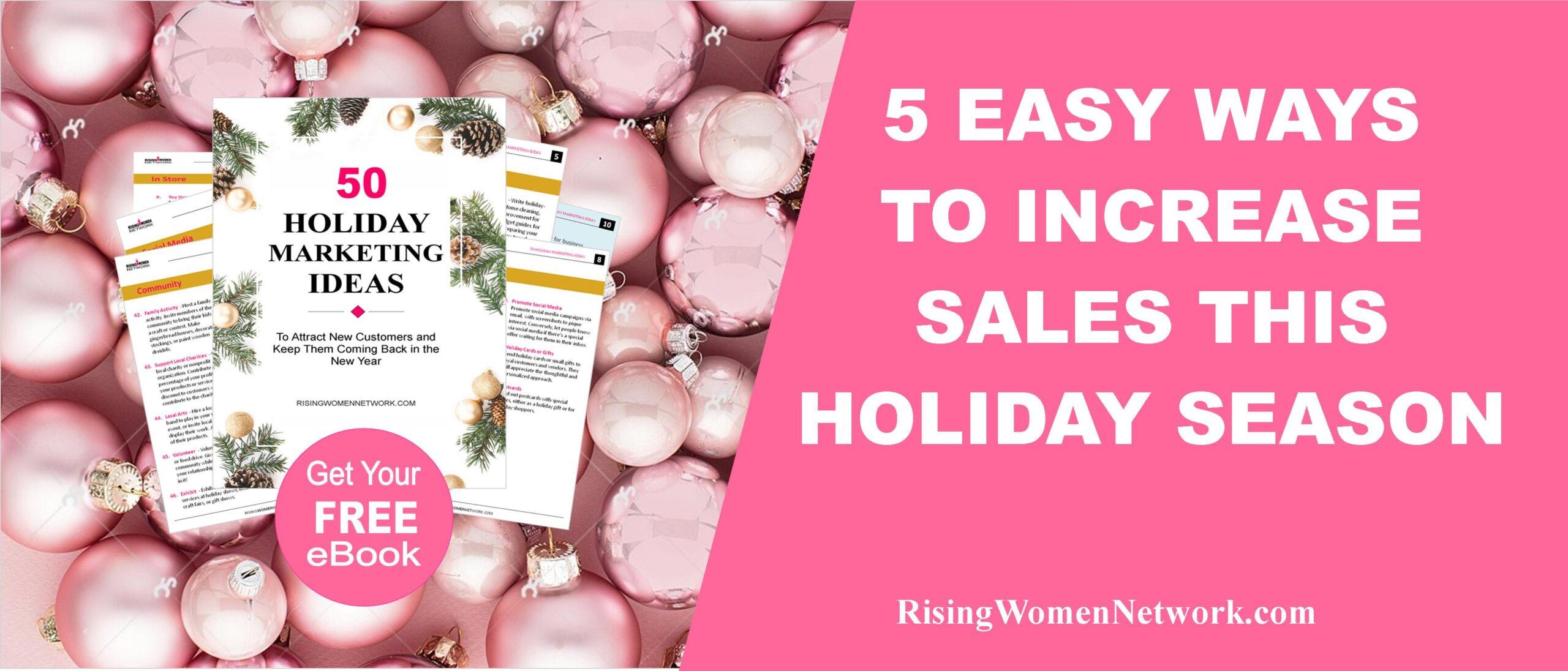 5 Easy Ways to Increase Sales This Holiday Season